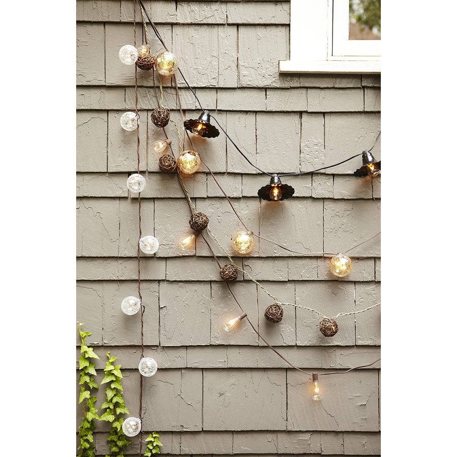 Variety of string lights from Lowe's