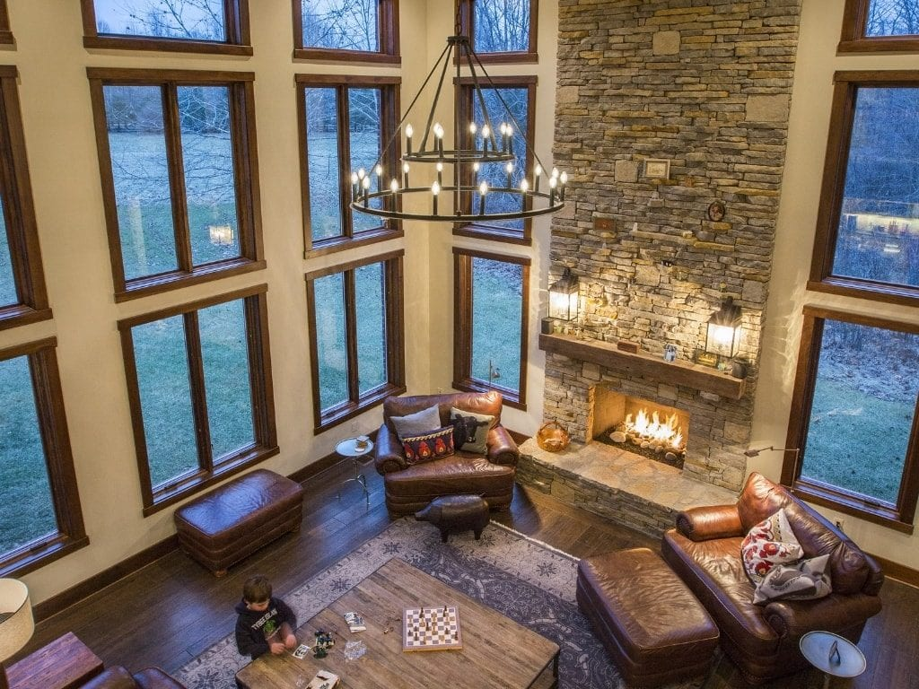 Lynnewood New Home Construction Cincinnati  Lodge Living Room