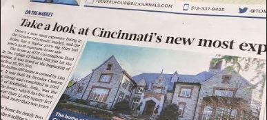 article on Cincinnati luxury home real estate