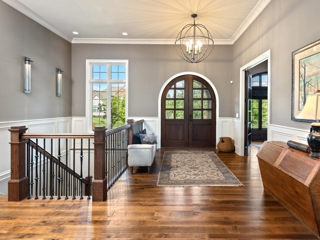 Arched doorway adds drama