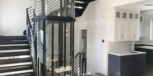 glass elevator for custom home cincinnati