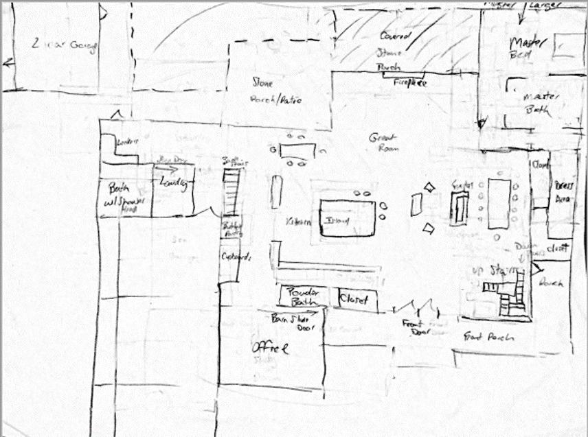 rough sketch of New home construction Cincinnati
