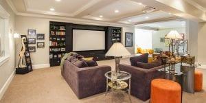Finished Lower Level in Cincinnati custom home