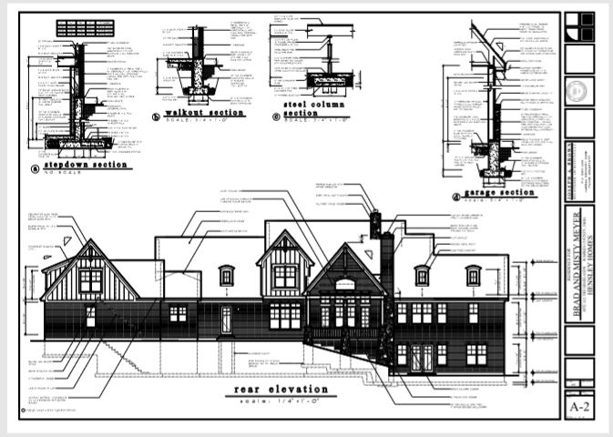 elevation drawing for New home construction Cincinnati