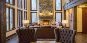 Great room by Cincinnati Custom Home Builder
