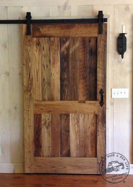 sliding barnwood door for custom homes