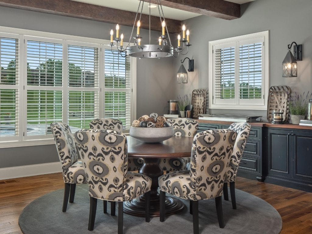 dining room by cincinnati luxury home builder