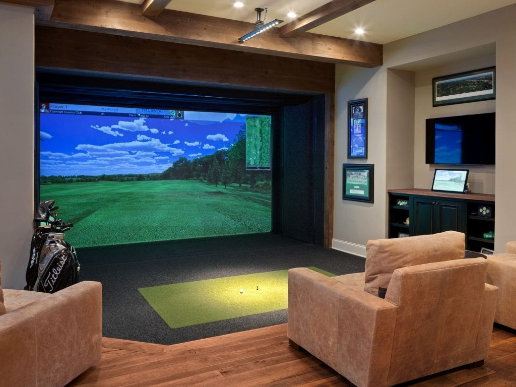 custom home theater ideas golf simulator