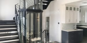 glass elevator for custom home cincinnati