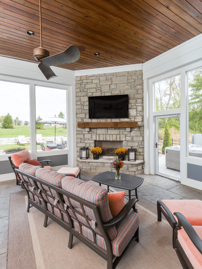Outdoor-screen-porch-fire-place-custom-home
