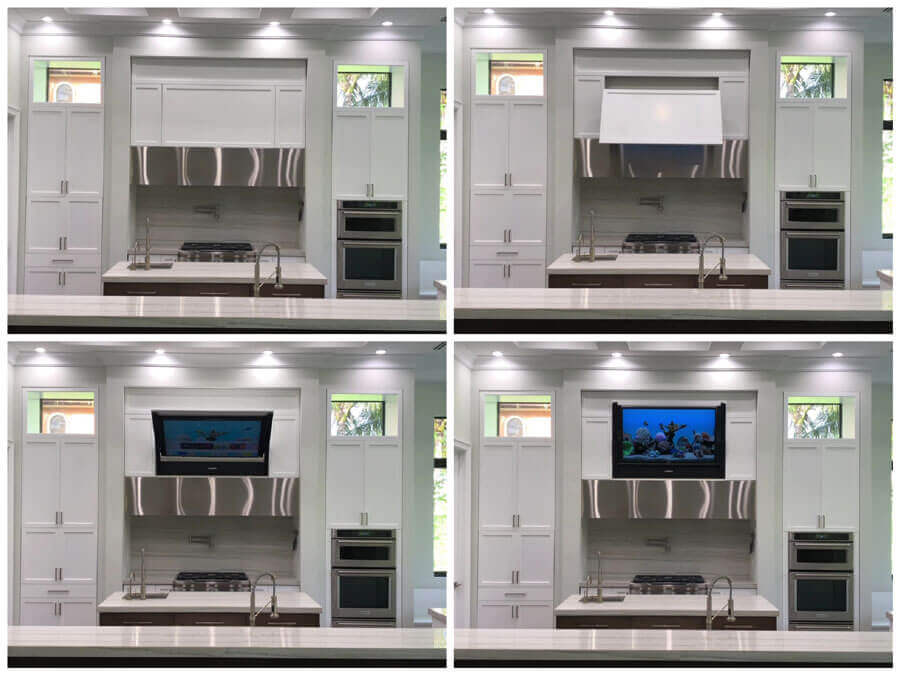 Hidden vision tv mount IBS 2020 custom home trends