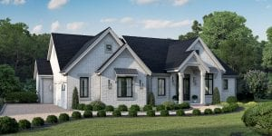 Rendering of Long Cove custom home for sale