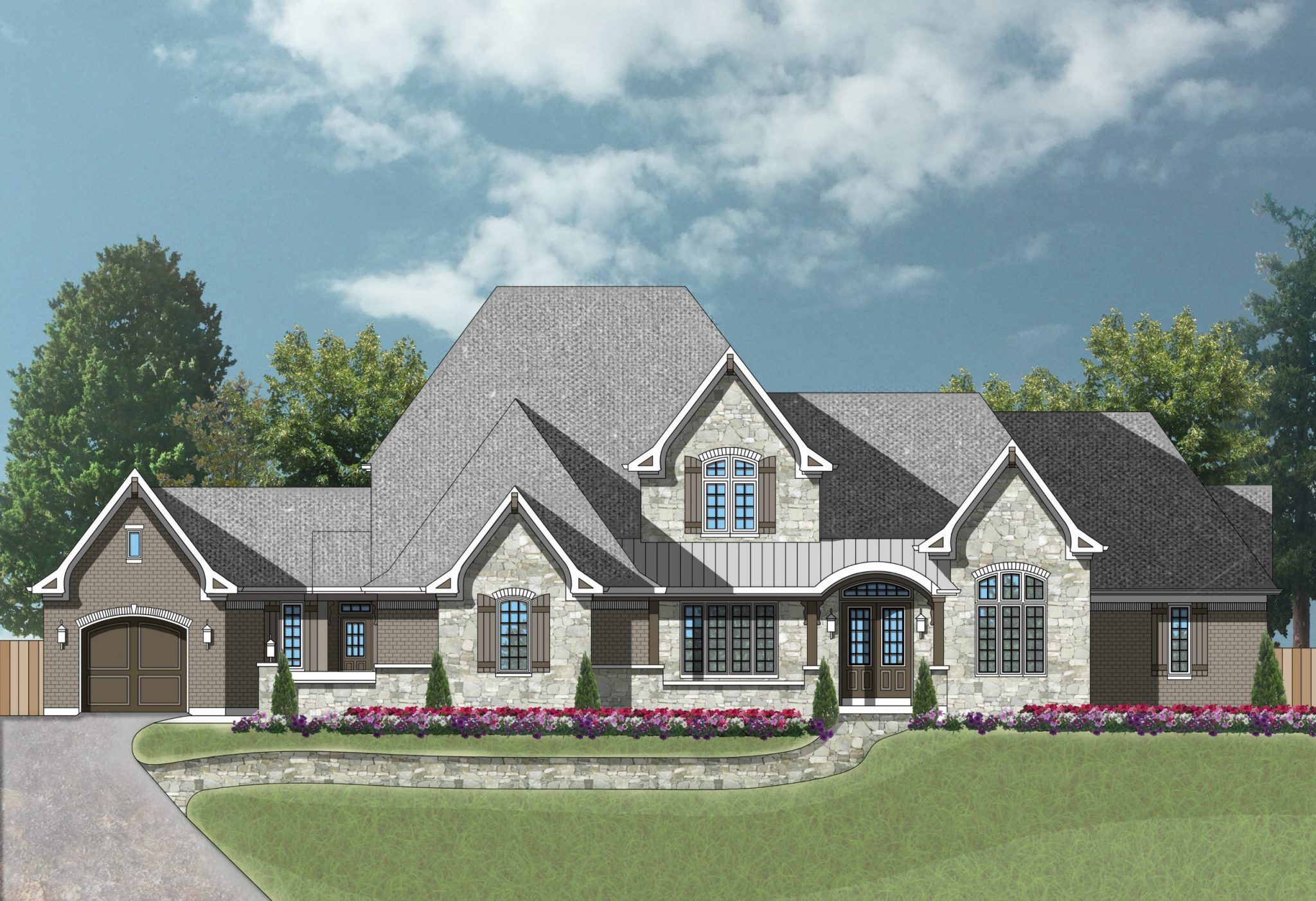 Custom Home Rendering Indian Hill home lots for sale