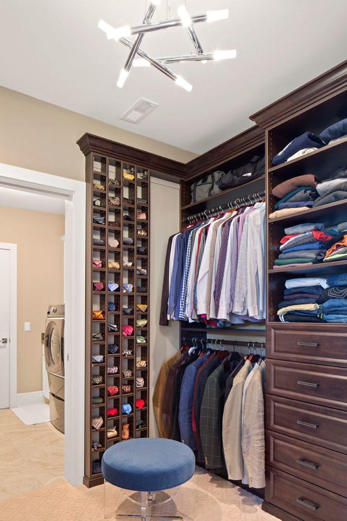 mens walk in closet hensley homes
