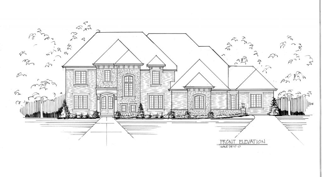 elevation drawing for multigenerational house plans