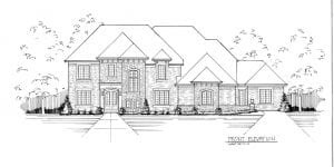 elevation drawing of multigenerational home