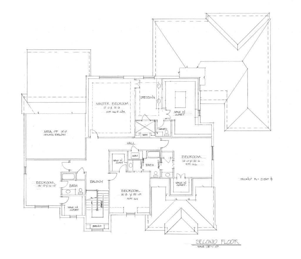 second floor plan for multigenerational house plans