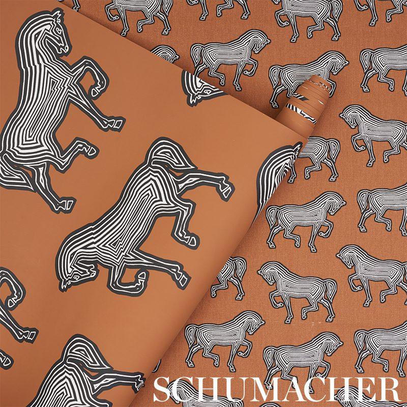 Schumacher Faubourg wallpaper