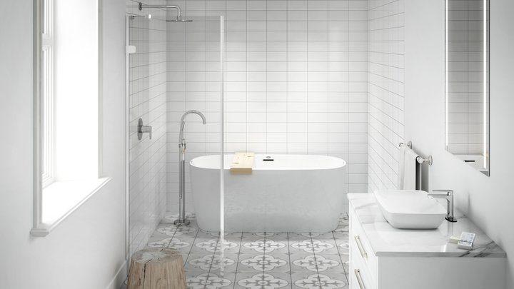 wet area for master bath Jacuzzi tub