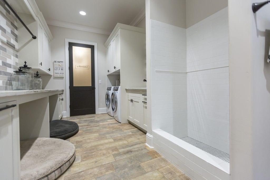 Dog washing station in empty nester homes