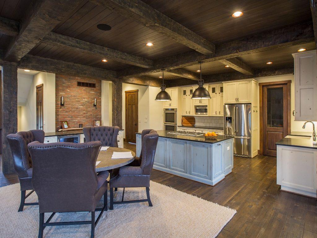 custom woodwork ceiling beams
