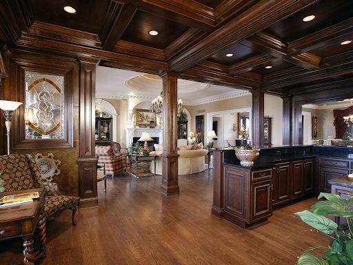 custom woodwork coffered ceiling