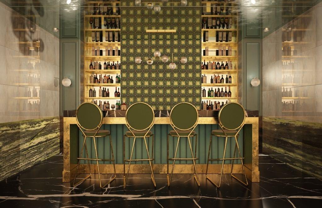 Artistic Tile in bar inspiration photo