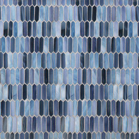 Glass tile mosaic in blue
