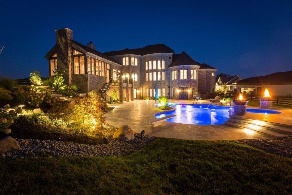 Custom Home Outdoor Lighting
