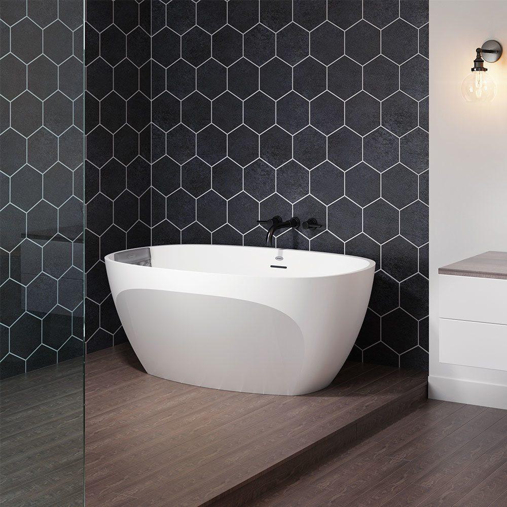 Jacuzzi tub in open concept bath