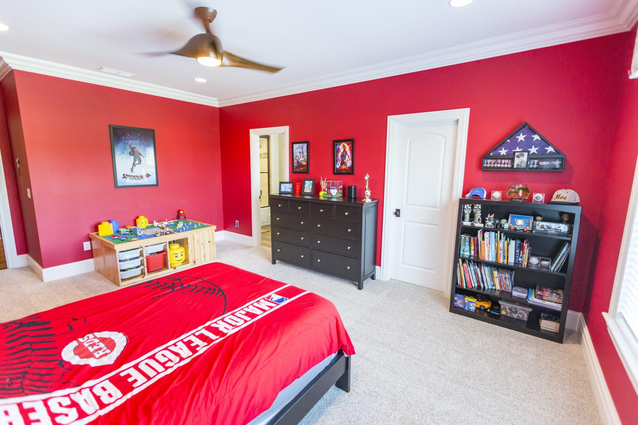 Custom Reds Kids Bedroom