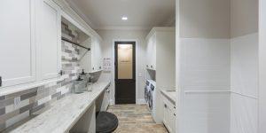 One of Hensley's custom laundry rooms